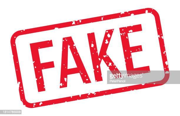 fake - stamp, imprint, seal template. vector stock illustration - imitation stock illustrations