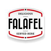 Falafel arabic cuisine label