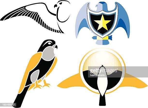 ilustrações de stock, clip art, desenhos animados e ícones de falcon logótipo do - falcon bird