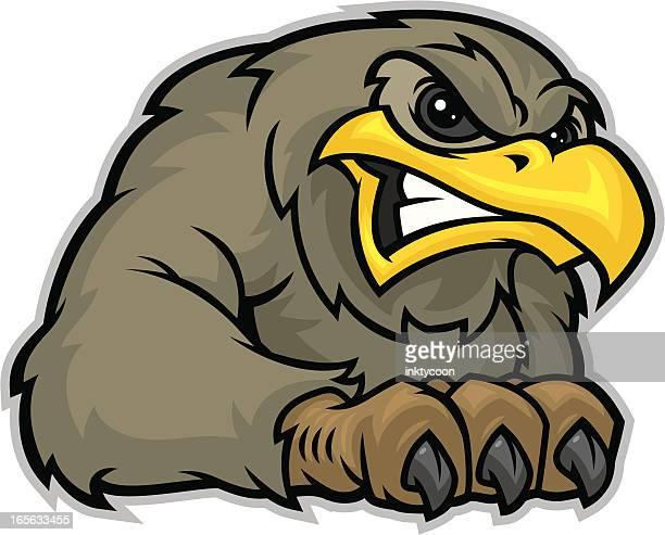falcon mascot claw - falcon bird stock illustrations, clip art, cartoons, & icons