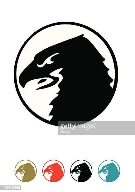 ilustrações de stock, clip art, desenhos animados e ícones de símbolo do falcón - falcon bird