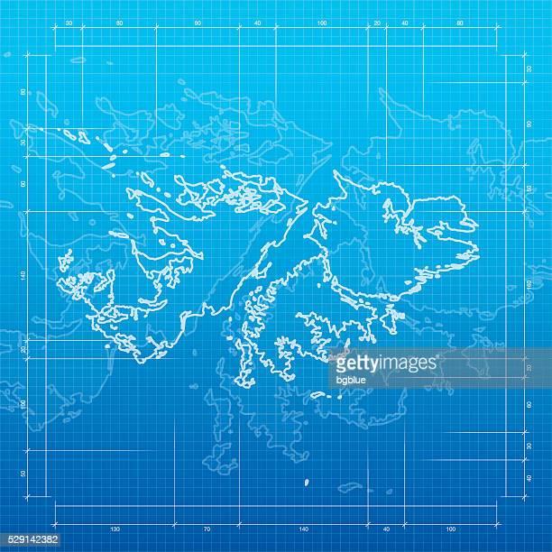 ilustraciones, imágenes clip art, dibujos animados e iconos de stock de islas malvinas mapa sobre un fondo de diagrama - islas malvinas