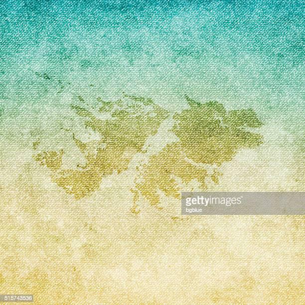 ilustraciones, imágenes clip art, dibujos animados e iconos de stock de islas malvinas mapa sobre fondo grunge de lona - islas malvinas