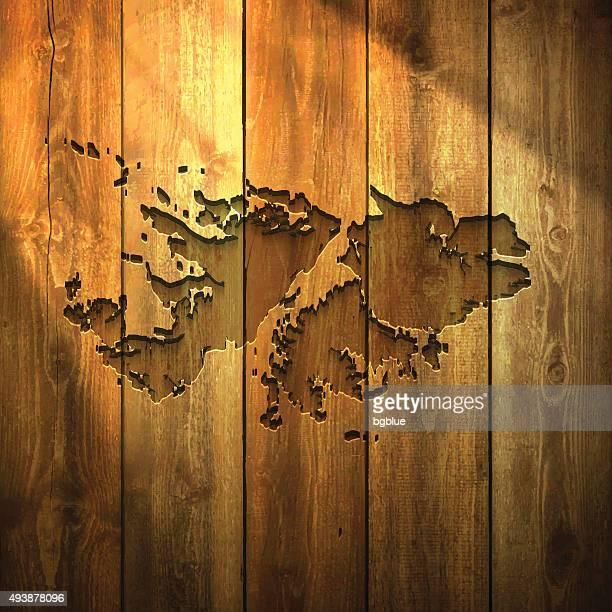 ilustraciones, imágenes clip art, dibujos animados e iconos de stock de islas malvinas mapa de luz fondo de madera - islas malvinas