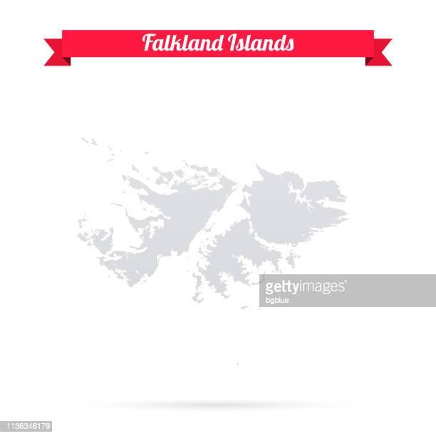 ilustraciones, imágenes clip art, dibujos animados e iconos de stock de mapa de las islas malvinas sobre fondo blanco con bandera roja - islas malvinas
