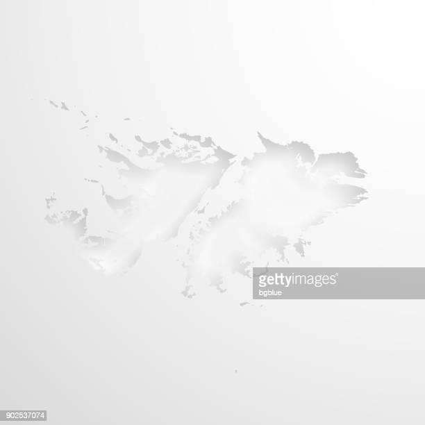 ilustraciones, imágenes clip art, dibujos animados e iconos de stock de mapa de las islas malvinas con efecto de papel realzado sobre fondo blanco - islas malvinas