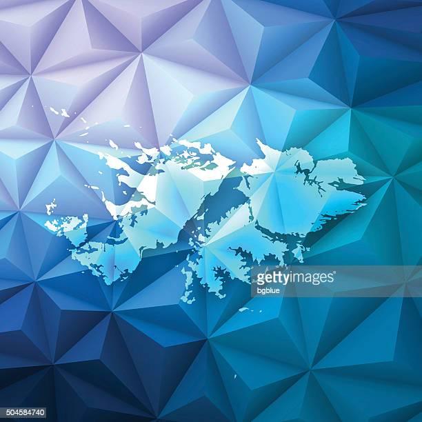 ilustraciones, imágenes clip art, dibujos animados e iconos de stock de islas malvinas en abstract polygonal fondo de tecnología, geométricas - islas malvinas