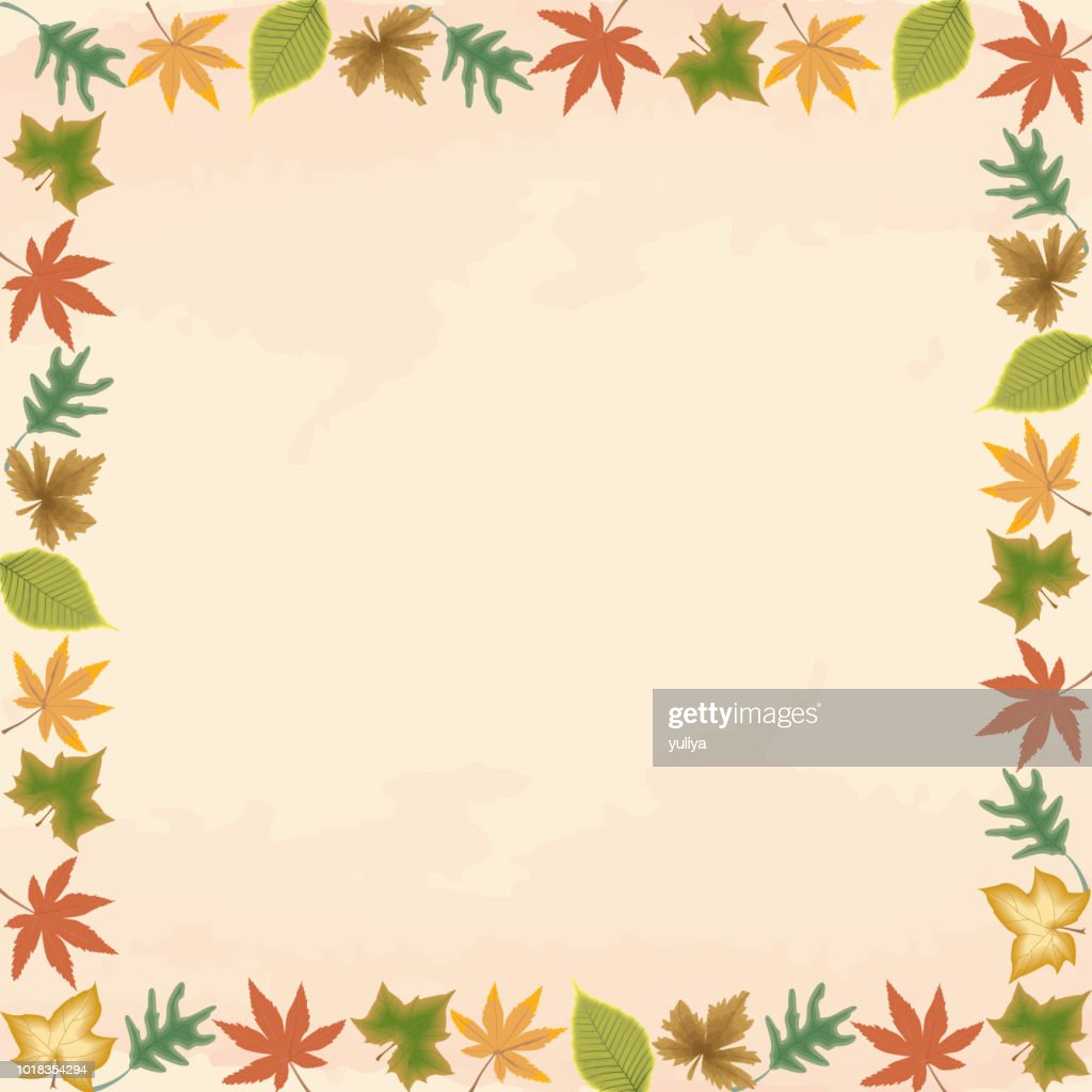 Fall, Autumn Leaves, Background, Banner and Frame