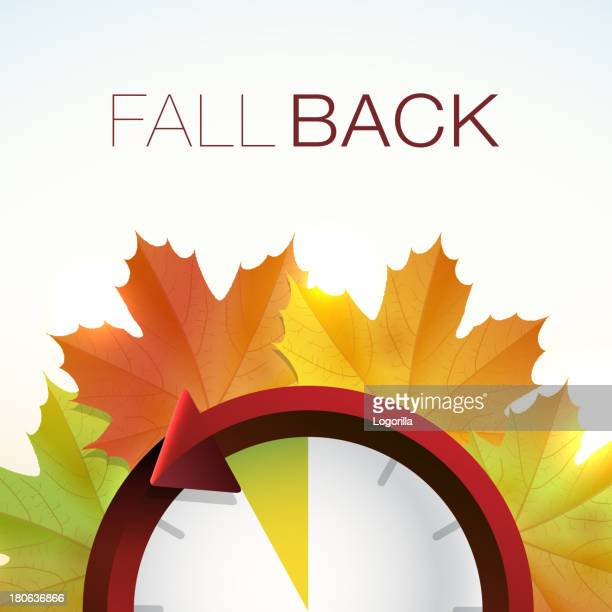 fall back - daylight savings - falling stock illustrations