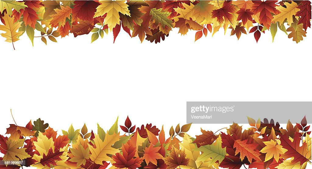 Fall Border High-Res Vector Graphic - Getty Images (1024 x 556 Pixel)