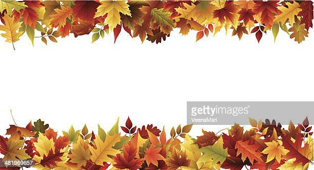 fall border - autumn stock illustrations