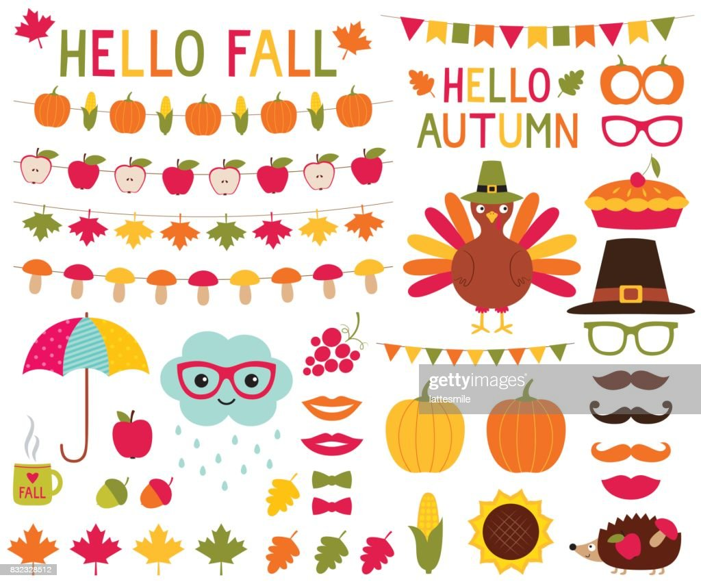 Fall design elements and photo booth props