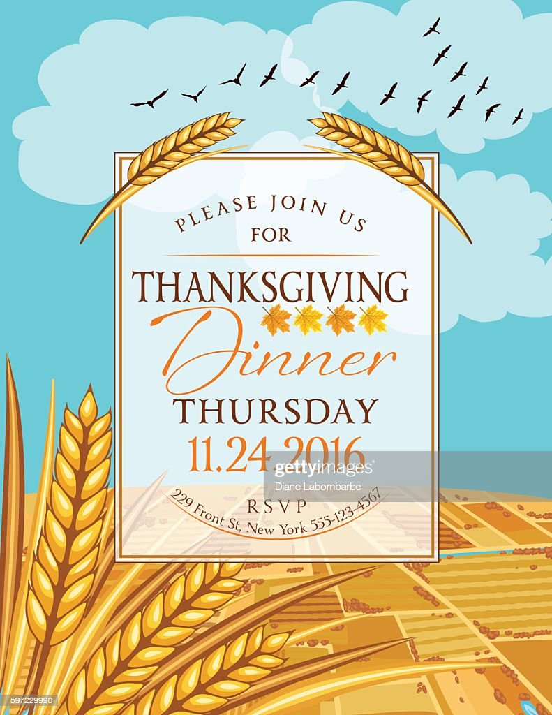 thanksgiving invitations blank templates