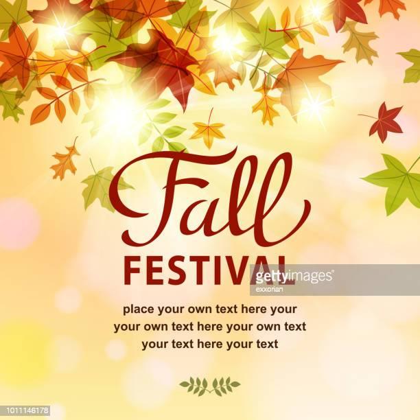 ilustrações, clipart, desenhos animados e ícones de convite festival de outono - festival tradicional