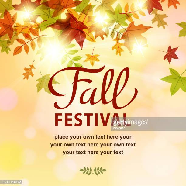 fall festival invitation - autumn stock illustrations