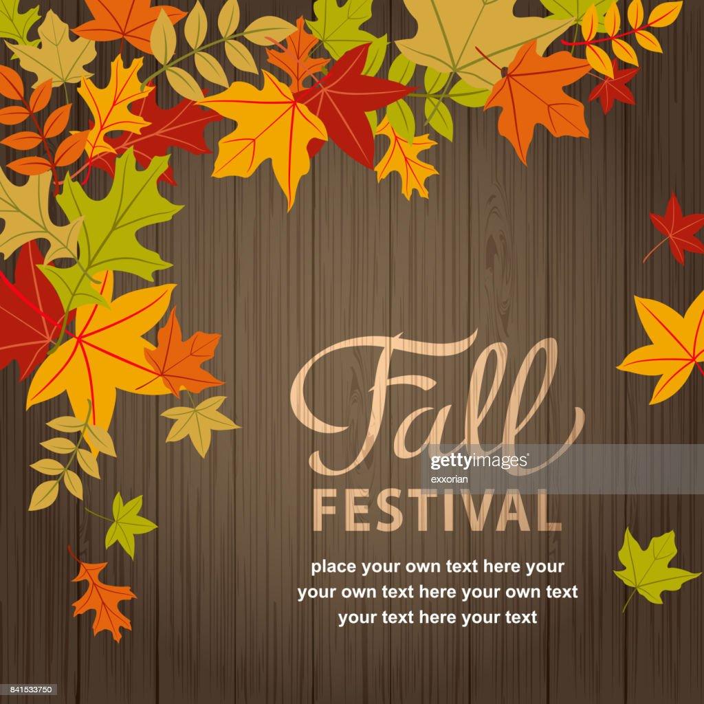 Fall Festival on Wood n