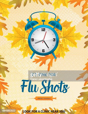 Fall Flu Or Influenza Shot Poster Template Vector Art | Getty Images