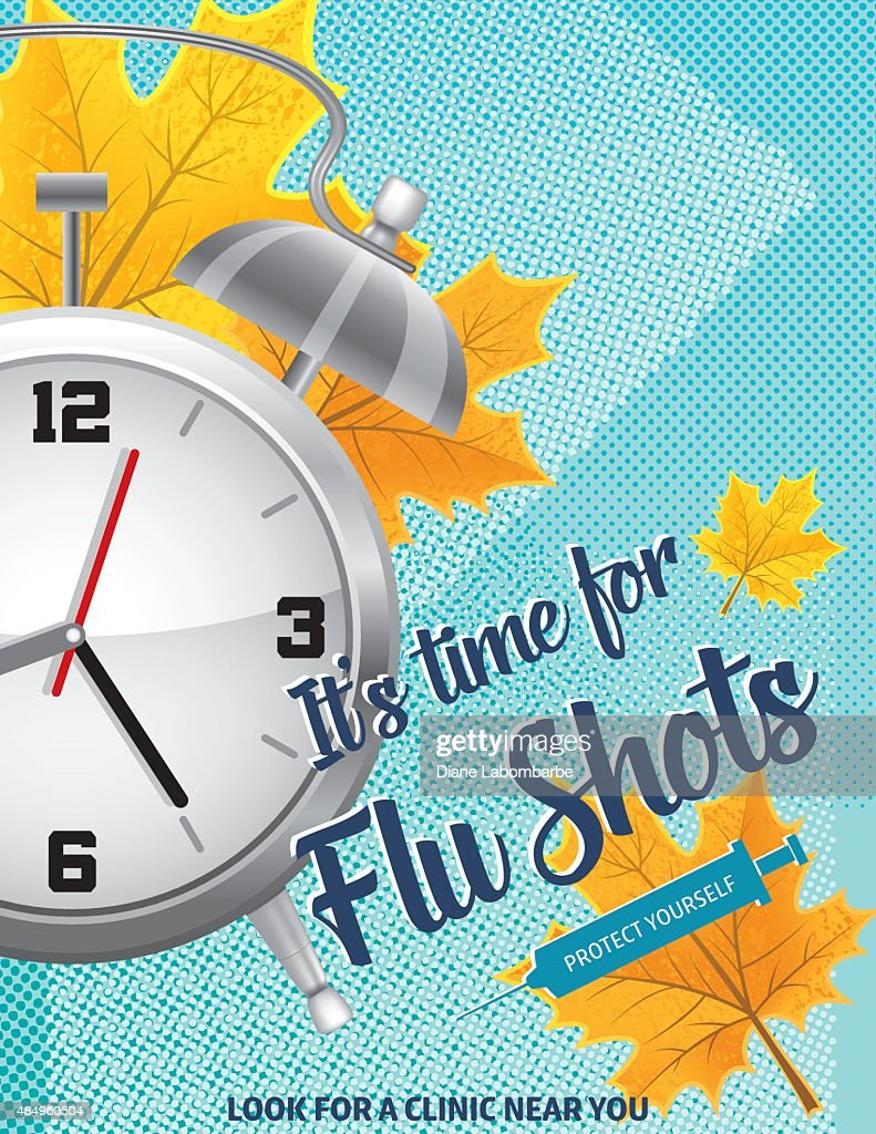 fall flu or influenza shot poster template vector art getty images