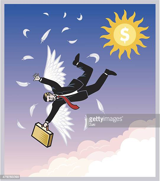 fall from grace - out of business stock illustrations, clip art, cartoons, & icons