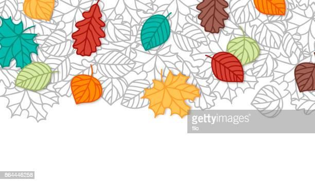 fall leaf background - autumn stock illustrations