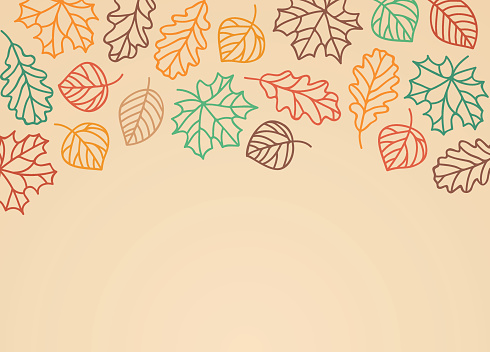 Fall Leaves Background - gettyimageskorea