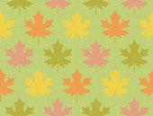 Fall maple leaves - Seamless knitting pattern