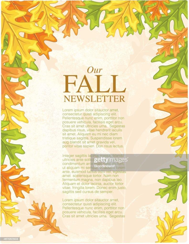 Fall Oak Leaves On Grunge Background