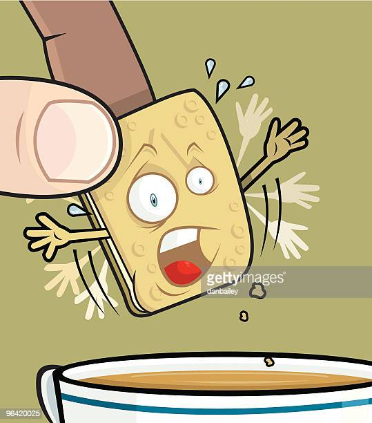 fall of the custard cream - dipping stock illustrations, clip art, cartoons, & icons