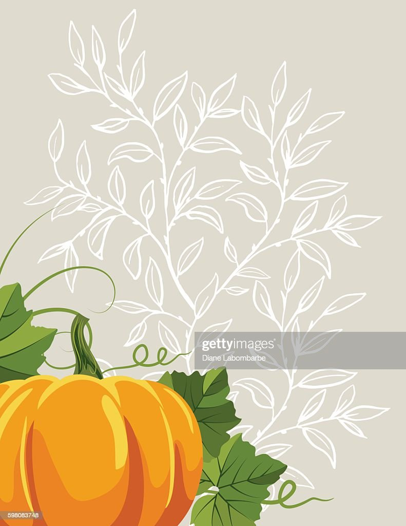 fall pumpkins background template ベクトルアート getty images