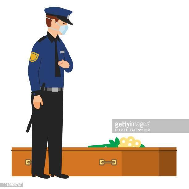 fallen comrades - more dead cops stock illustrations
