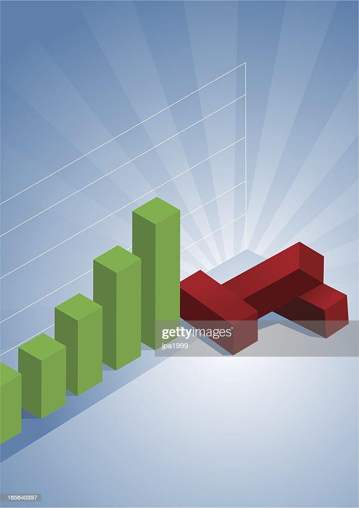 Fallen economy : stock illustration
