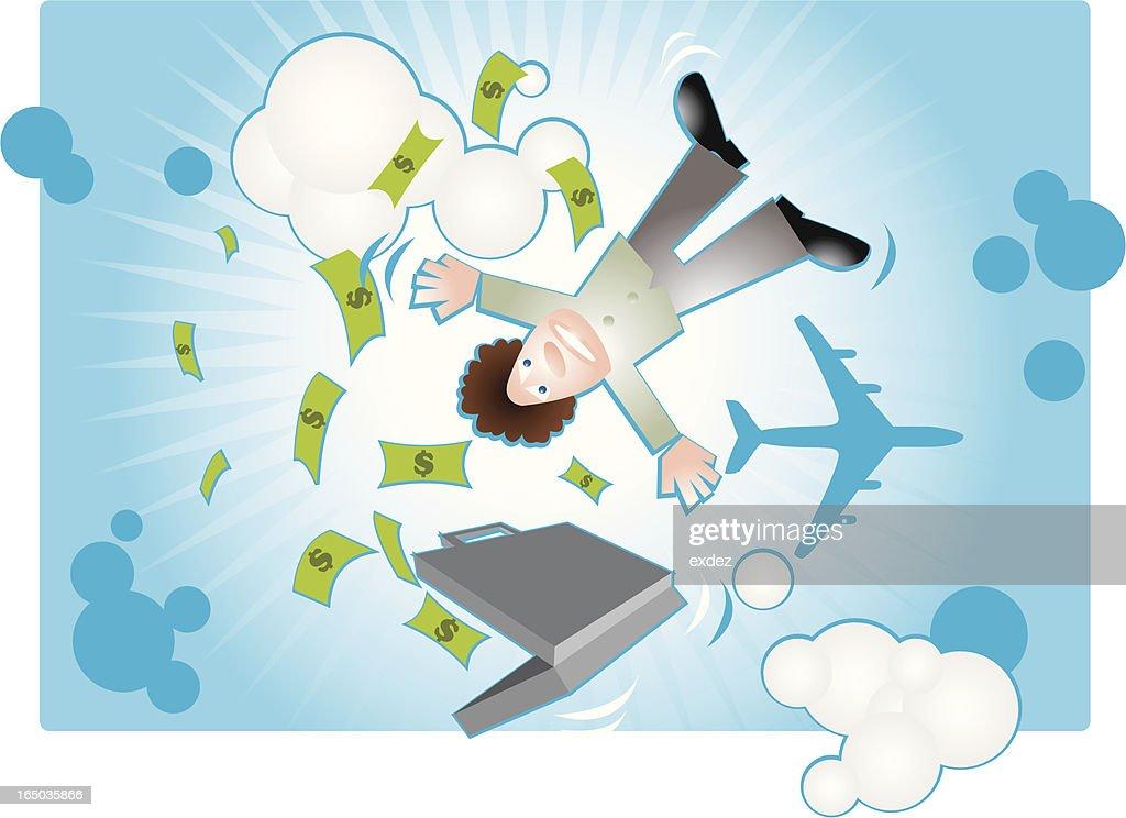 Fallen from the sky for money (vector)