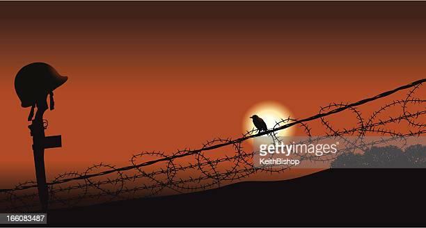 Fallen Soldier aves de la guerra y de la paz