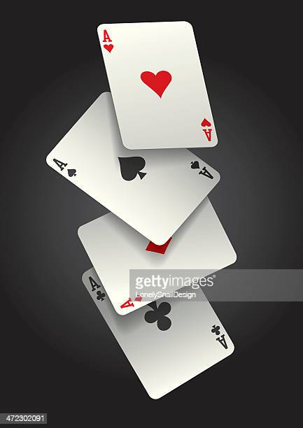 falling ace cards - ace stock illustrations, clip art, cartoons, & icons