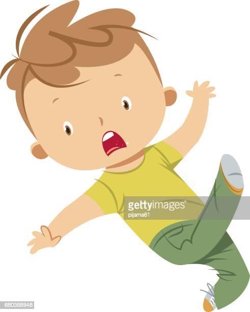 illustrations et dessins anim233s de child falling down