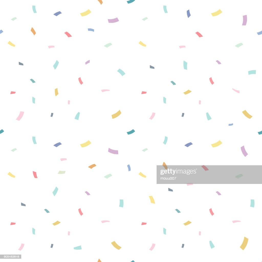 Falling confetti with white background, vector illustration