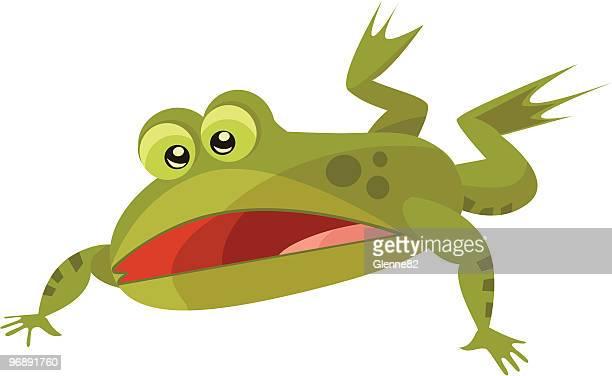 falling カエル - named animal点のイラスト素材/クリップアート素材/マンガ素材/アイコン素材