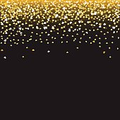 Falling golden hearts
