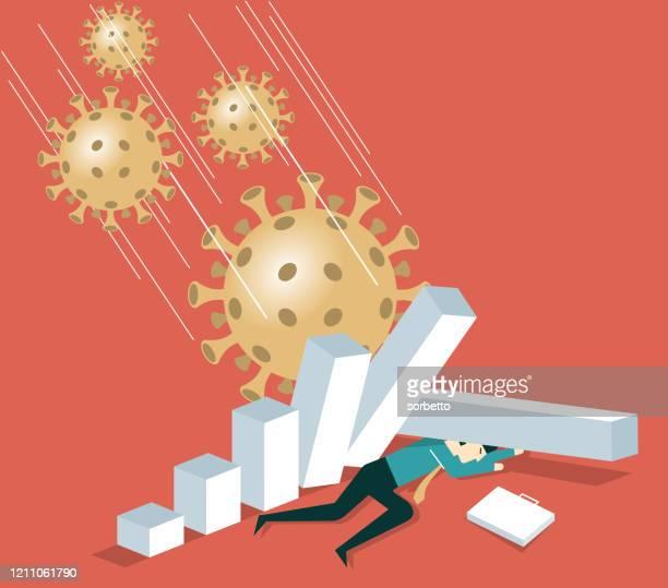 falling graph - defeat stock illustrations