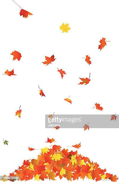 falling leaves - falling stock illustrations
