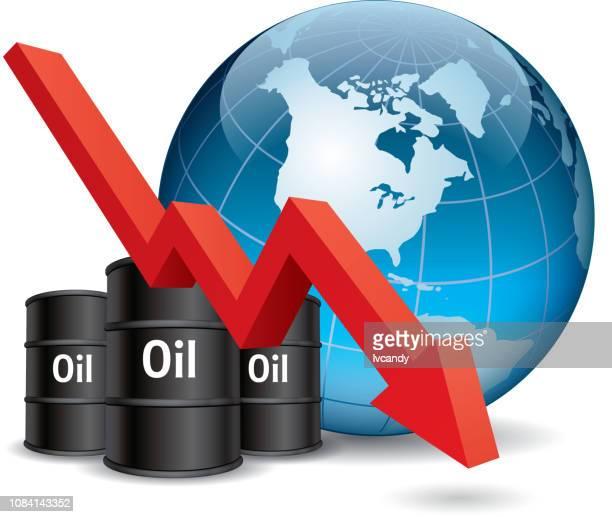 石油価格の下落 - 精油点のイラスト素材/クリップアート素材/マンガ素材/アイコン素材