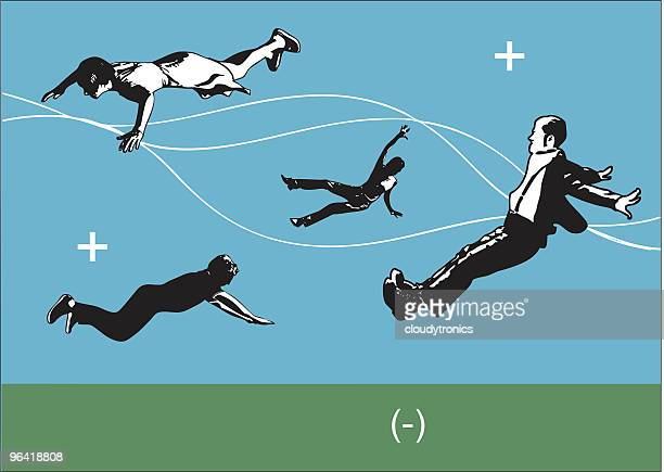 Falling people (Vector)