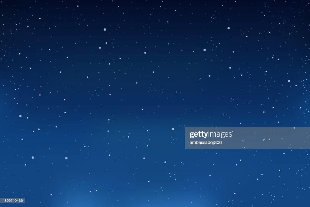 Falling snow, blue winter background. Snowflakes in the sky. vector
