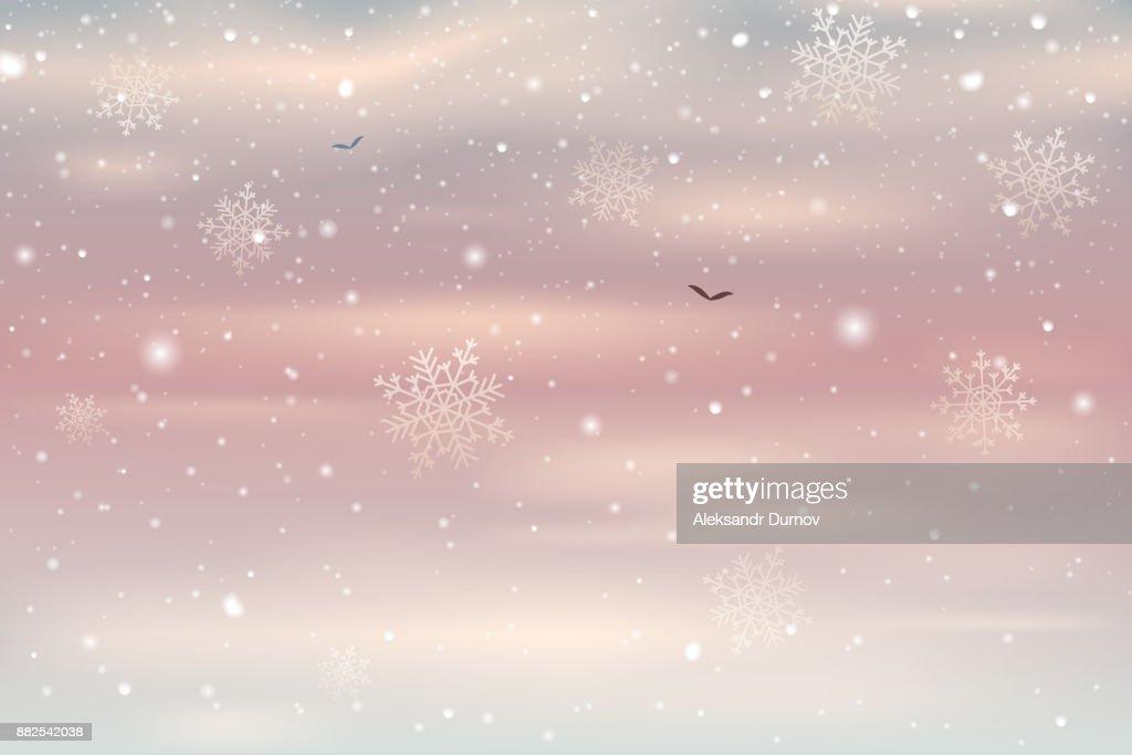 Fallender Schnee Vektor Hintergrund Schneefall Vor Dem Hintergrund ...