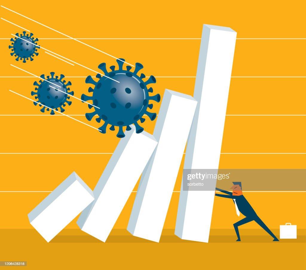 Falling - Viruses : stock illustration