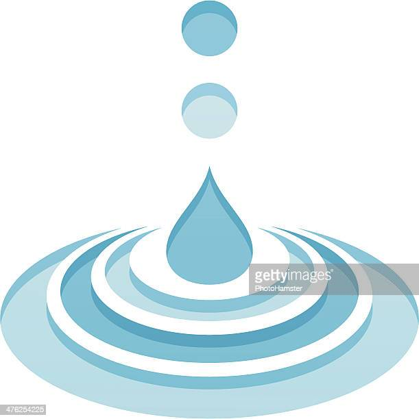 falling water drops - water cycle stock illustrations, clip art, cartoons, & icons