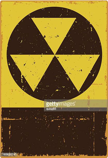 fallout shelter sign - bunker stock illustrations
