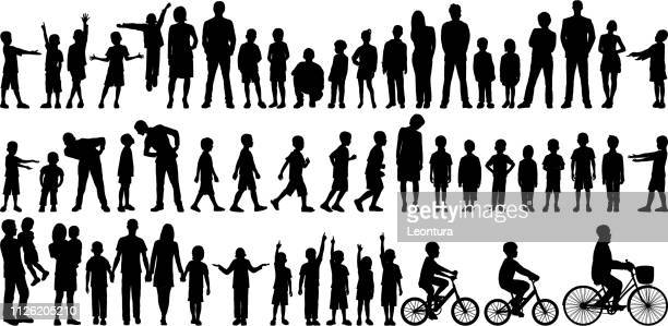 families - bicycle stock illustrations
