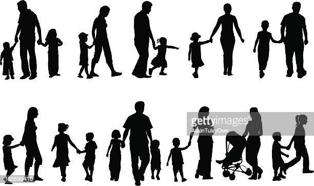 ilustraciones, imágenes clip art, dibujos animados e iconos de stock de las familias - madre e hija