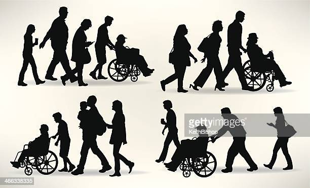 Families with Senior Member in Wheelchair - Aging